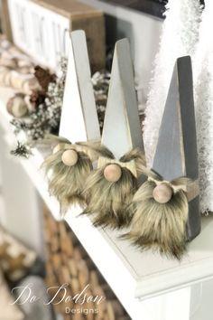 Wood Block Gnomes - DIY Christmas Craft