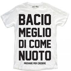 """T-SHIRT UOMO """"BACIO MEGLIO"""""""