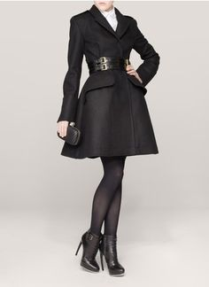 """McQ Alexander McQueenWool flared coat - Can I just say """"Wow!"""""""