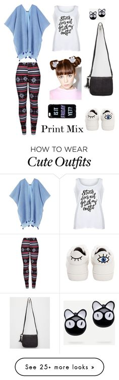 """A mix of prints"" by polyvorebuff on Polyvore featuring WithChic, MANGO, LC Trendz, Betsey Johnson, Violet Ray, Ponytail Pals and plus size clothing"