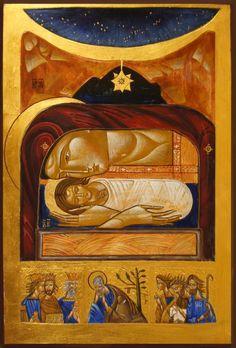 Nativity contemporary icon by Lubov Yatskiv Religious Images, Religious Art, Early Christian, Christian Art, Church Icon, Russian Icons, Byzantine Art, Catholic Art, Orthodox Icons