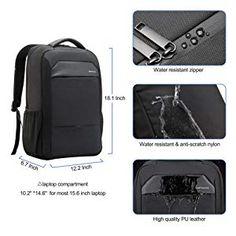 kopack Slim Laptop Backpack Usb Charging Waterproof Zipper Computer Backpack Black Travel Bag For Business College for 15 Inch Waterproof Laptop Backpack, Computer Backpack, Backpack Reviews, Black Backpack, Travel Bag, Suitcase, Usb, College, Backpacks