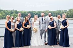 Navy and gray wedding party colors by Tiffany Brubaker Photography   La Crosse, Wisconsin