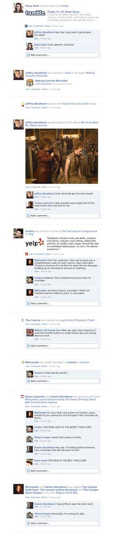 time for Game Of Thrones Facebook Recap Season 3 Episode 8!