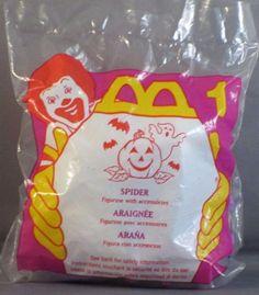1996 McDonalds Happy Meal Toy Halloween McNugget Spider #1