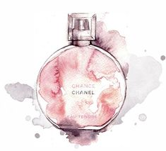 Chanel perfume Illustration - This is a print from my original watercolour and ink fashion illustration Chanel Chance. It fits fem - Watercolor Fashion, Fashion Painting, Watercolor And Ink, Watercolor Illustration, Fashion Art, Chanel Fashion, Woman Fashion, Fashion Prints, Fashion Design