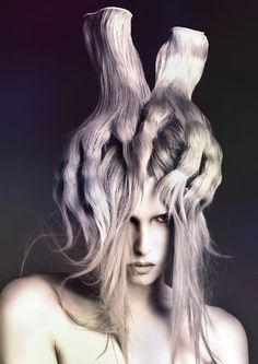 Yoshi Su, The 2014 Australian Hair Fashion Awards Avant Garde Hairdresser of the Year and Style Director at Rokk Ebony in Melbourne, Australia
