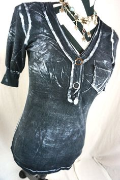Daytrip Top XS Size XSmall The Buckle Bke Distressed Dye Pocket Womens Shirt #Buckle #Blouse #Casual