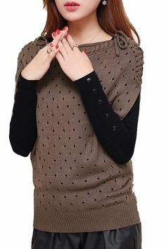 $86.10 cool Two-piece Sets Of Knit Thickened Shoulder Tie Loose Sweater Girl