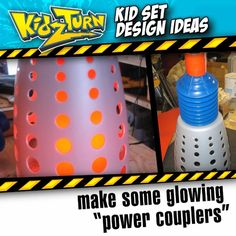 "make some glowing ""power couplers"" we like to make props with as much ""normal…"