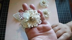 Vintage Handmade Flower using your lace remains