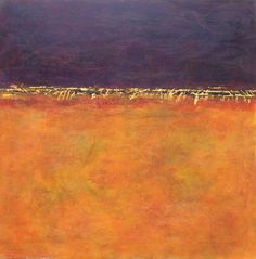 Linda Coppens - Beneath the surface n°16 Oil & cold wax on gesso panel (40x40x5 cm) - SOLD