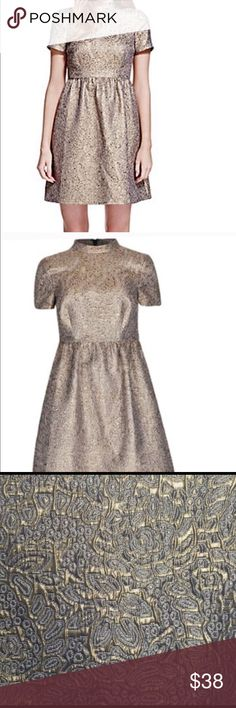 Marks and Spencer Cocktail dress Size 10/12 Marks and Spencer cocktail dress. Gold and silver/grey. Gorgeous embroidery. Marks and Spencer Dresses Mini
