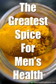 Turmeric, and its well-known active ingredient curcumin, has potent antioxidant and anti-inflammatory properties, and has been studied for a wide variety of healing properties, most of which greatly benefit men's health. Tumeric Benefits, Health Benefits, Healthy Man, How To Stay Healthy, Healthy Salads, Healthy Living, Men Health Tips, Natural Kitchen, Anti Inflammatory Recipes
