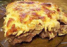 Говядина по-купечески с сыром и грибами   Поваренный сайт