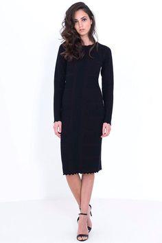 שמלה סריג קוביות שילוב