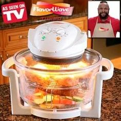 Whether you have bought a Flavor Wave Turbo Oven or a Flavor Wave Deluxe Oven, the cookbook thats included does not offer that much different. Turbo Broiler Recipes, Nuwave Oven Recipes, Convection Oven Cooking, Countertop Convection Oven, Easy Cooking, Cooking Time, Cooking Recipes, Healthy Recipes, Halogen Oven Recipes