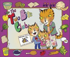"Download ""The Two-Bite Club"" which is an educational storybook that was developed to introduce MyPyramid to kids and encourage them to try foods from each food group by eating just two bites.  There's also a coloring page, blank certificate, activity pages, and tips for growing healthy eaters."