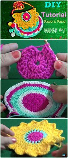 Crochet Doily Girls Bag Free Pattern Video - Crochet Kids Bags Free Patterns