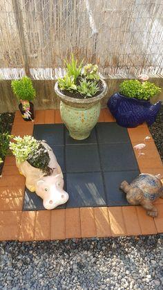 Bricks and plants