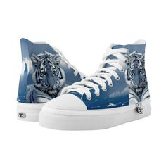 Tiger Zipz High Top Sneakers, Printed Shoes (370 PLN) ❤ liked on Polyvore featuring shoes, sneakers, zipz, high top shoes, hi tops, high top sneakers and high top trainers