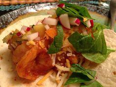 Jamaican Shrimp Tacos with Mango Salsa
