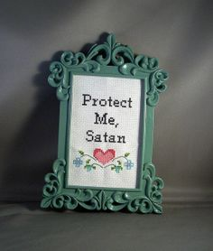 Protect Me Satan by katiekutthroat on Etsy, $45.00