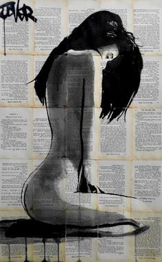 """Artist: Loui Jover; Ink 2015 Drawing """"marigold"""" 