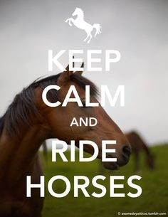 This is so true I'm always calm when I ride