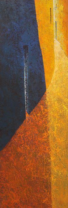 Tomàs Martínez Suñol, La costa nº 20, 2015, oil on canvas, 150 x 50 cm #contemporary #art #painting