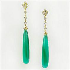 Orlanda Olsen Green Onyx Earrings - Jewelry Trend: Green Gemstones #JICInfo
