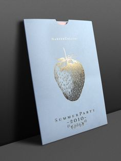 Designed by One Darnley Road. HarperCollins Publishers invitation to their 2010 Summer Author Party at the Victoria & Albert Museum.