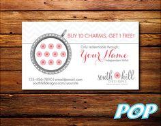 Personalized Digital File - Loyalty Card - South Hill Designs - SHD - Charm Card Social