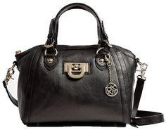 DKNY Heritage Vintage Black Satchel Bag