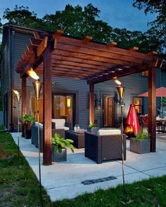 32 Creating Stunning Pergola Decorations Inspiring Ideas, These ideas you are able to try prior to making your pergola design. The ravishing pergola design functions as a home extension. Diy Pergola, Building A Pergola, Pergola Ideas, Wooden Pergola, Outdoor Pergola, Pergola Lighting, Cheap Pergola, Building Plans, Pergola Shade