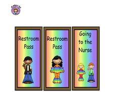 groovy themed classroom   Hall Passes 60's Hippie Theme - Kestner's Kreations ...