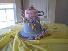 my 30th birthday cake!  mad hatter tea party style.
