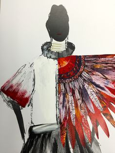 Illustration from the first semester - Joya. The program is about experimental process and developing unique approaches to fashion. This comes from the student with direction from the academic team. It does not just come from the academic team or me. There's a lesson there for those who want to do well.