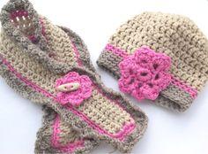Bufanda y gorro crochet