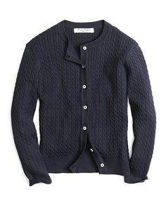 Shop for Girls Long-Sleeve Mini Cable Cardigan by Brooks Brothers at ShopStyle. Cable Cardigan, School Essentials, Brooks Brothers, Crew Neck, Mini, Long Sleeve, Sweaters, Cotton, Shopping