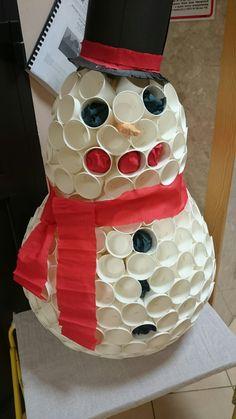 Bałwan DIY art activities for kids snowman
