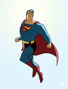 Superman commission piece by Yale Stewart done July 2014 #YaleStewart #JL8 #Superman