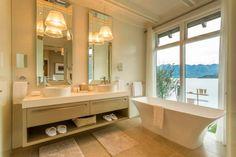 Look inside the Owner's Cottage at Matakauri Lodge - Vogue Living Bathroom Interior Design, Interior Decorating, Bathroom Staging, Interior Ideas, Bathroom Ideas, Luxury Hotel Bathroom, Hotel Bathrooms, Large Bathrooms, Dream Bathrooms