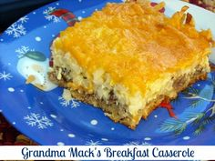 Mommy's Kitchen - Country Cooking & Family Friendly Recipes: Grandma Mack's Breakfast Casserole