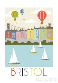 Bristol is a print reproduced from my original digital illustration. This is an…