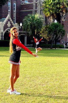 Tiny cheerleader!