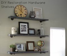 DIY Restoration Hardware Shelves