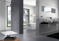Bath Tiles, Home, Powder Room, Decor Inspiration, Bathroom, Indoor Tile, Indoor, Background Tile, Bathtub