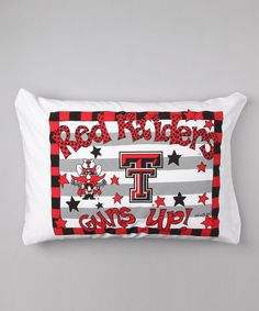 Take a look at this Texas Tech Personalized Standard Pillowcase on zulily today!