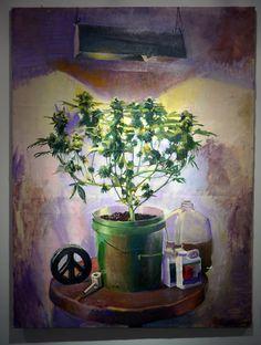 002 trippy, smoke, weed leafs, girl weed inspired art